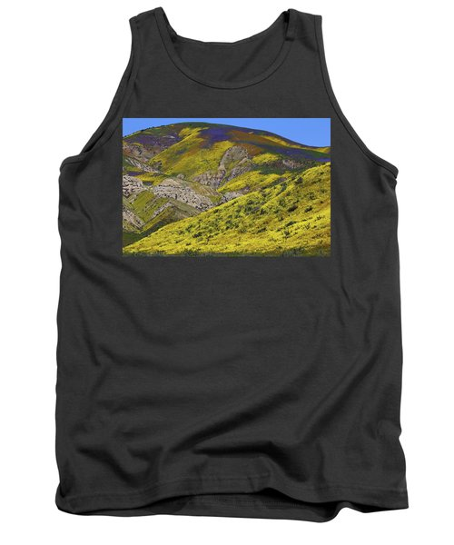 Wildflowers Galore At Carrizo Plain National Monument In California Tank Top by Jetson Nguyen