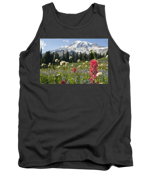 Wildflowers In Mount Rainier National Tank Top
