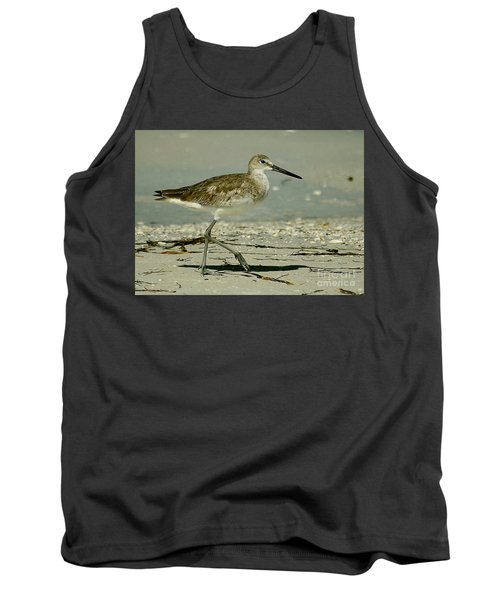 Willet At The Shoreline Tank Top by Myrna Bradshaw