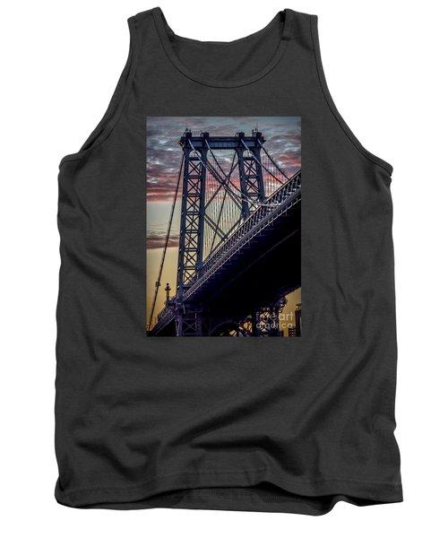 Williamsburg Bridge Structure Tank Top by James Aiken