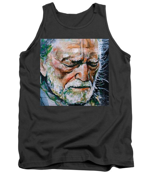 Willie Nelson 7 Tank Top by Laur Iduc