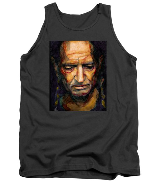 Willie Nelson Portrait 2 Tank Top by Laur Iduc