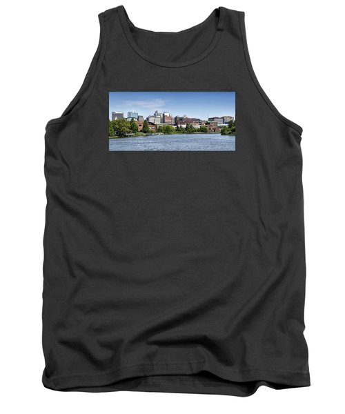 Wilmington Delaware Skyline Tank Top by Brendan Reals