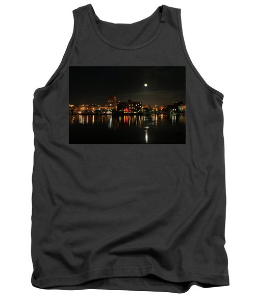 Wilmington Nc At Night Tank Top by Denis Lemay