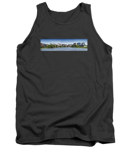 Wilmington Skyline Panorama - Delaware Tank Top by Brendan Reals