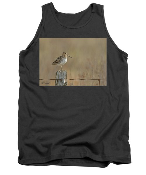 Wilson's Snipe On A Post Tank Top by CR Courson