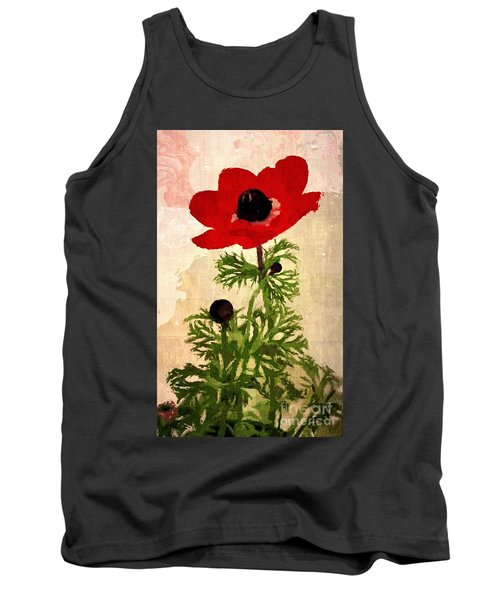 Tank Top featuring the digital art Wind Flower by Alexis Rotella