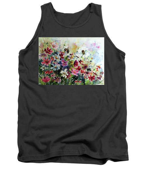 Windflowers With Bees II Tank Top