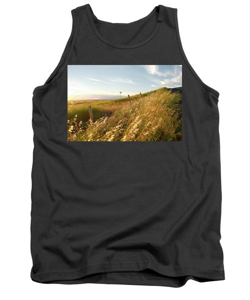 Windmill And The Fence Sundown Tank Top