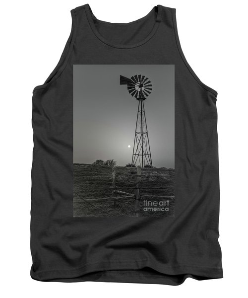 Windmill At Dawn Tank Top by Robert Frederick
