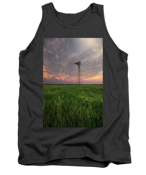 Tank Top featuring the photograph Windmill Mammatus by Aaron J Groen
