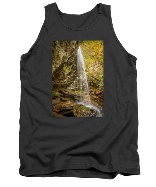Tank Top featuring the photograph Window Falls In The Autumn by Bob Decker