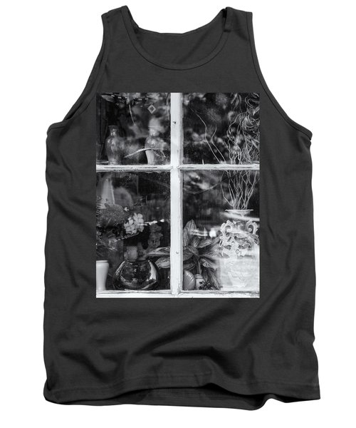 Window In Black And White Tank Top