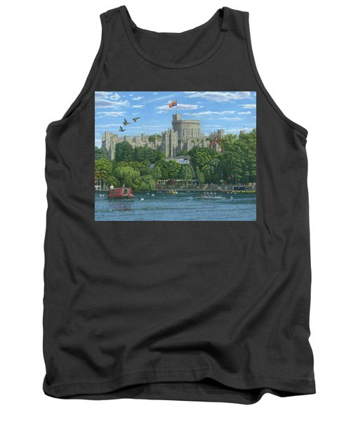 Windsor Castle From The River Thames Tank Top