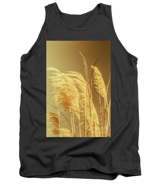 Windswept Autumn Brush Grass Tank Top