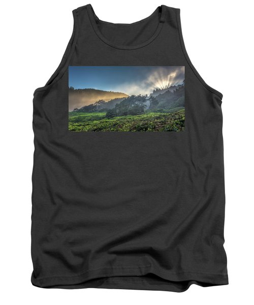 Tank Top featuring the photograph Windswept Trees On The Oregon Coast by Pierre Leclerc Photography