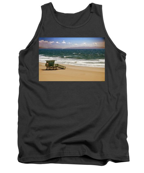 Tank Top featuring the photograph Windy Beach Day by Joseph Hollingsworth
