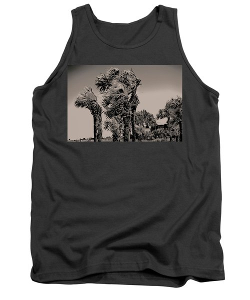 Windy Day At Beach Tank Top
