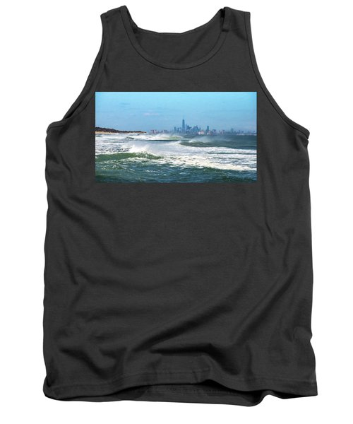 Windy View Of Nyc From Sandy Hook Nj Tank Top by Gary Slawsky