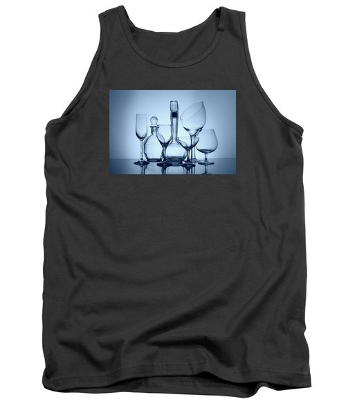 Wine Decanters With Glasses Tank Top by Tom Mc Nemar