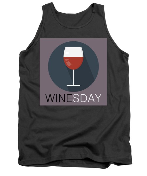 Wine Poster Print - It's Winesday Tank Top