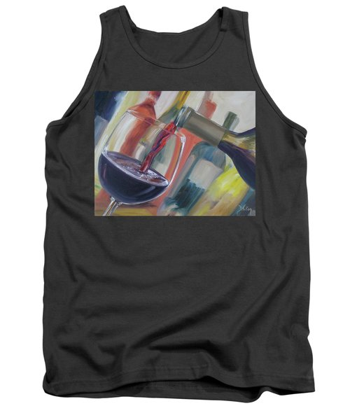 Tank Top featuring the painting Wine Pour by Donna Tuten