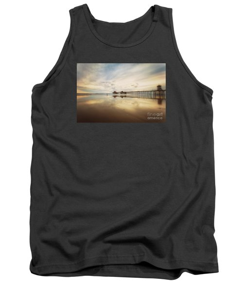 Winter At Huntington Beach Pier Tank Top