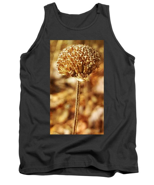 Tank Top featuring the photograph Winter Bee Balm by Bruce Carpenter