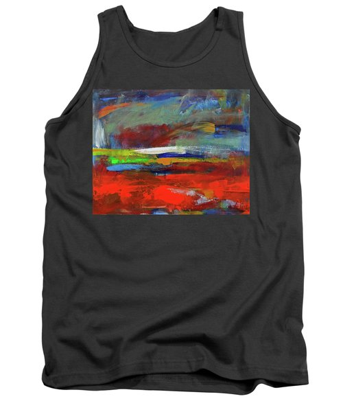 Tank Top featuring the painting Winter Beginnings by Walter Fahmy