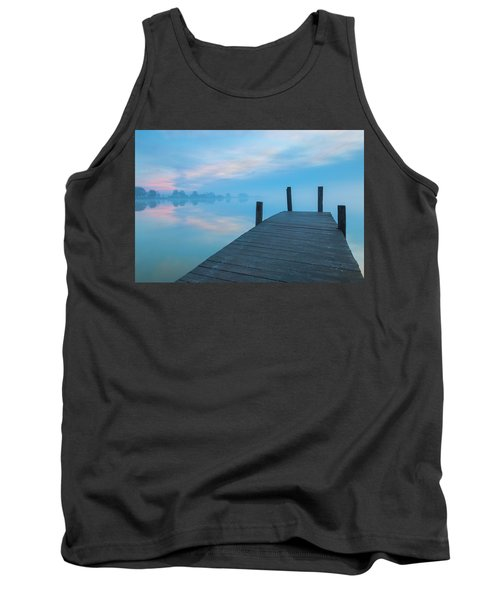 Tank Top featuring the photograph Winter Blues by Davor Zerjav