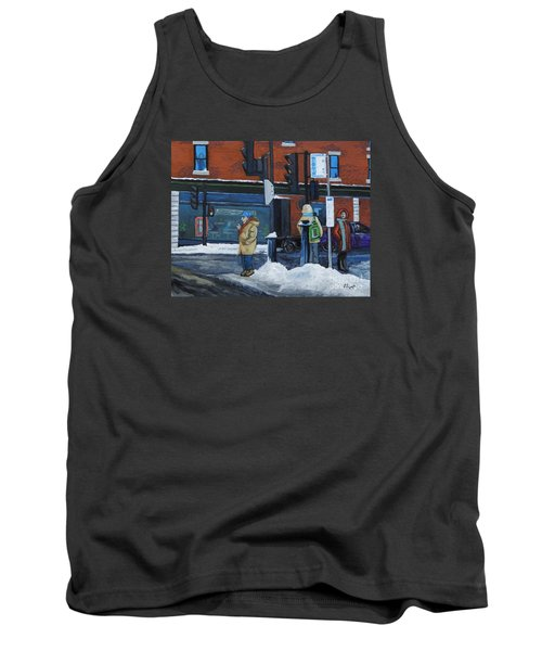 Winter Bus Stop Tank Top by Reb Frost