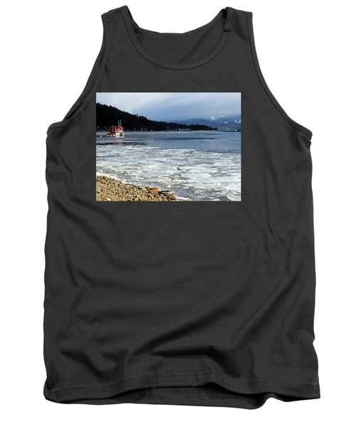 Tank Top featuring the photograph Cottage Life In Winter by Victor K