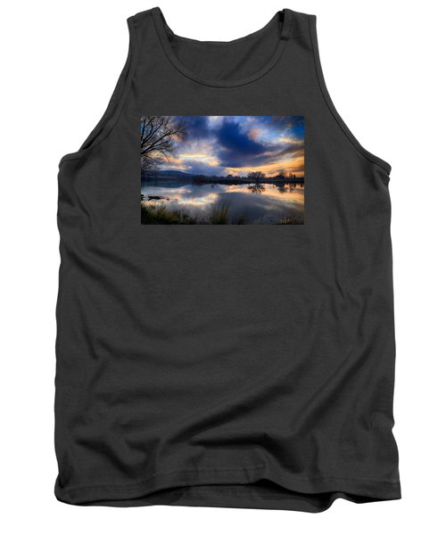 Winter Colors At Sunset Tank Top by Lynn Hopwood