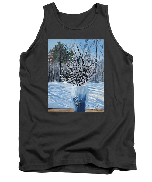 Winter Floral Tank Top