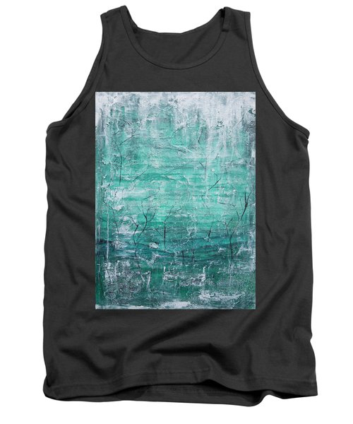 Tank Top featuring the painting Winter Landscape by Jocelyn Friis