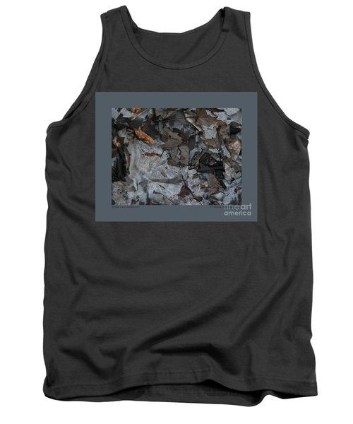 Tank Top featuring the photograph Winter Leaf Abstract-iii by Patricia Overmoyer