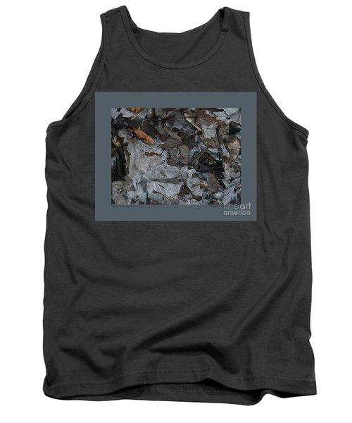 Winter Leaf Abstract-iii Tank Top