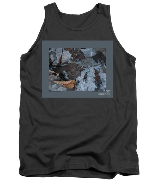 Tank Top featuring the photograph Winter Leaf Abstract-iv by Patricia Overmoyer