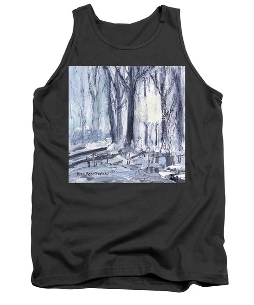 Tank Top featuring the painting Winter Light by Robin Maria Pedrero
