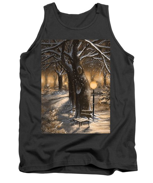 Tank Top featuring the painting Winter Magic by Veronica Minozzi