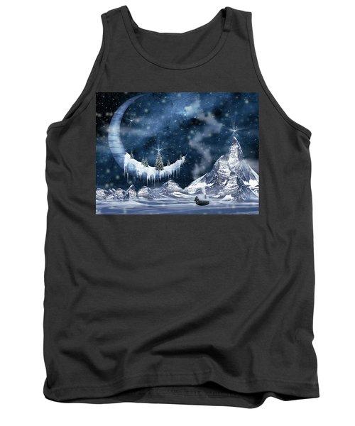 Winter Moon Tank Top by Mihaela Pater