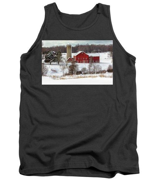Winter On A Farm Tank Top