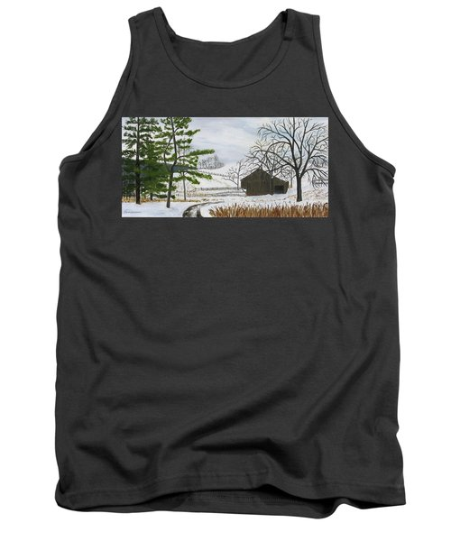 Winter On Hill Crystal Farm Tank Top