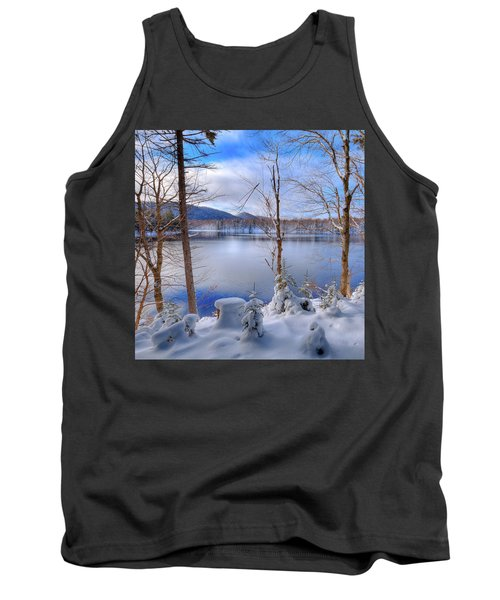 Winter On West Lake Tank Top by David Patterson