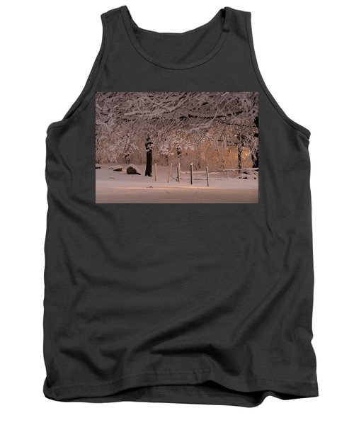 Winter Sunset Ft Hill Park Tank Top