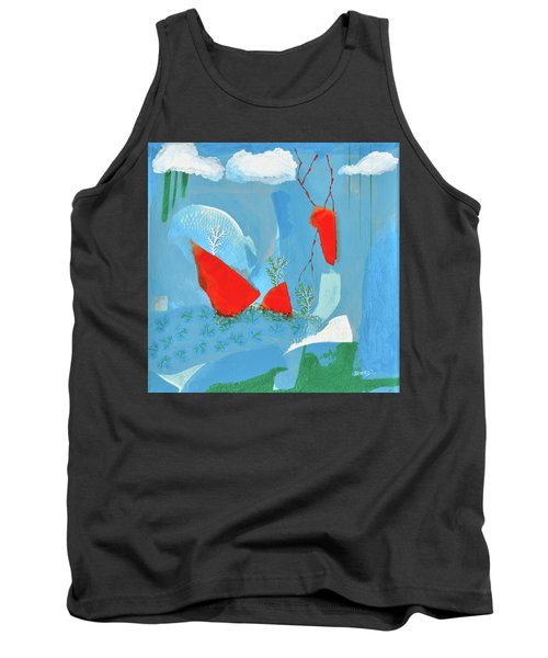 Winter Thunder Tank Top by Donna Blackhall