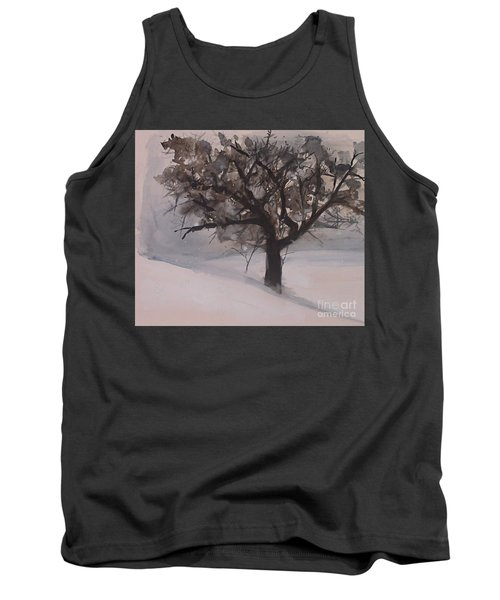 Tank Top featuring the painting Winter Tree by Laurie Rohner