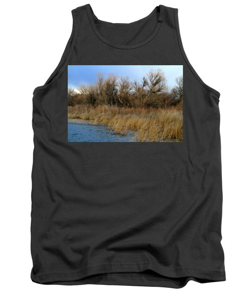 Winter Trees Along The Snake Tank Top
