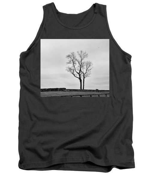 Tank Top featuring the photograph Winter Trees And Fences by Nancy De Flon