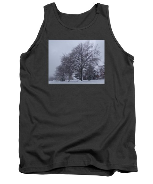 Tank Top featuring the photograph Winter Trees In Sea Girt by Melinda Saminski